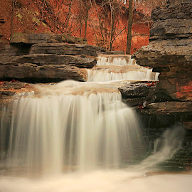 OVER THE TOP by Dana Johnson - Landscapes Waterscapes ( waterfalls, cascade, creek, falls, lancdscape )