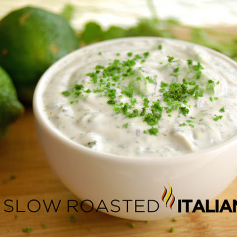 Cilantro Lime Yogurt Sauce
