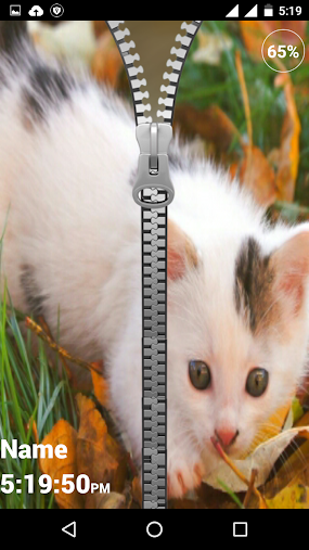 Kitty Zipper Lock Screen APK