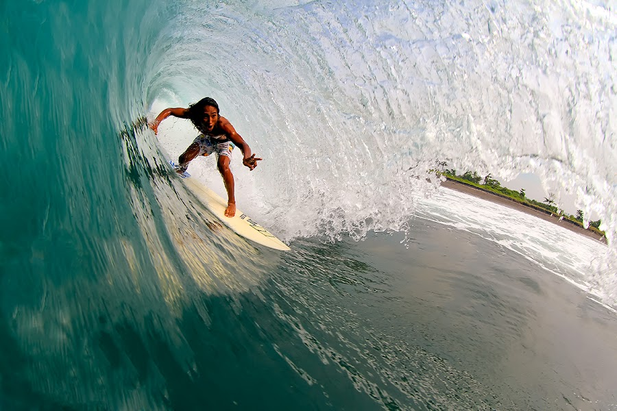 Alik barrel time Keramas by Trevor Murphy - Sports & Fitness Surfing