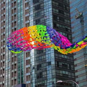 CITYKITE by Frank Photography - Artistic Objects Toys ( holiday, skyline, kite, asia, play, singapore )