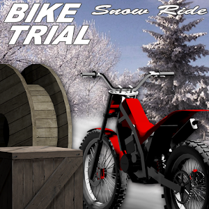 Bike Trial Snow Ride