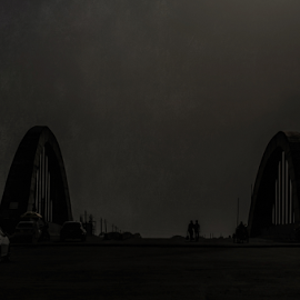 Deep Down Inside by Faysal Amin - City,  Street & Park  Street Scenes ( sky, shadow, street, dark, light, deep )