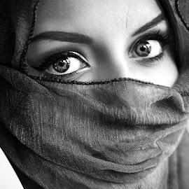 Eyes by Joita Gigi - People Portraits of Women ( face, beauty, scarf, eyes )