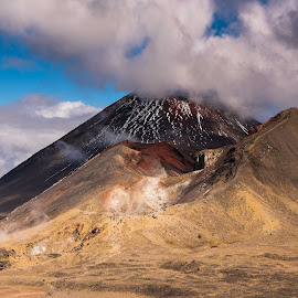 Background doom by Willem Pretorius - Landscapes Mountains & Hills ( crater, clouds, mountains, volcano, hiking )