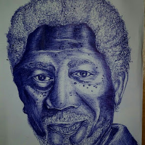 morgan freeman by Mehul Singh - Drawing All Drawing