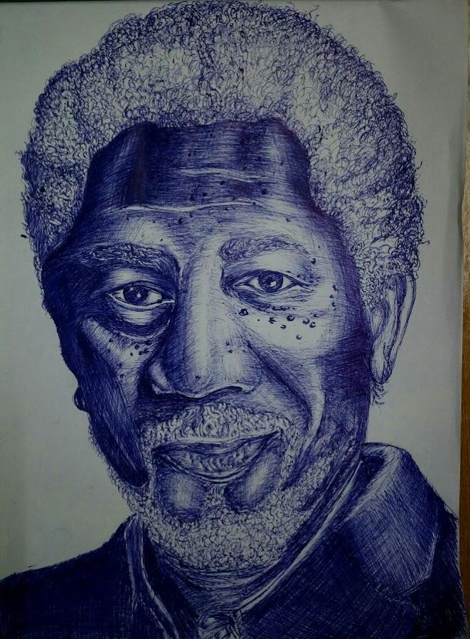 morgan freeman by Mehul Singh - Drawing All Drawing