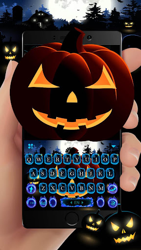 Cool Ghost Midnight Keyboard Theme For PC