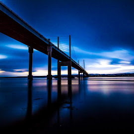 Kessock Bridge , Inverness by Gordon Bain - Buildings & Architecture Bridges & Suspended Structures ( dawn, kessock bridge, long exposure, beauly firth, inverness )
