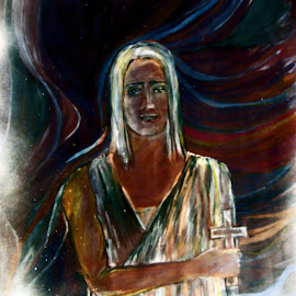 The smile by Vesna Disich - Painting All Painting ( religion, art, artistic, smile, man )