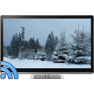 Snowfall on TV via Chromecast