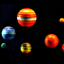 Planets   of  pixels by Gordon Simpson - Abstract Patterns