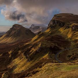 The Quiraing by Sandra Cockayne - Landscapes Mountains & Hills ( trotternish, scotland, skye, scottish highlands, sandra cockayne, sandi cockayne, scottish, sunrise, highlands, quiraing )