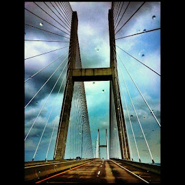 Jekyll island bridge... by Miki Farmer - Buildings & Architecture Bridges & Suspended Structures