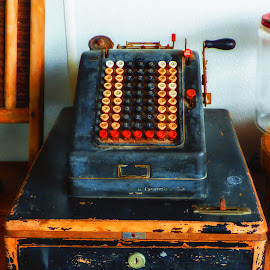 Antique Cash Register by Dave Walters - Artistic Objects Antiques ( cash register, colors, antique, historic )