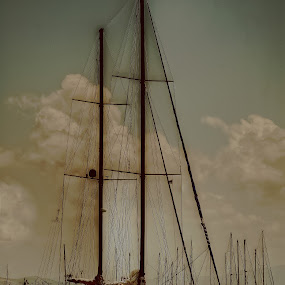 Veliero di legno by Girolamo Cavalcante - Transportation Boats ( sailship, wooden boats, boats, sea )