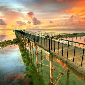 Sunset Pavillion by Alit  Apriyana - Landscapes Sunsets & Sunrises