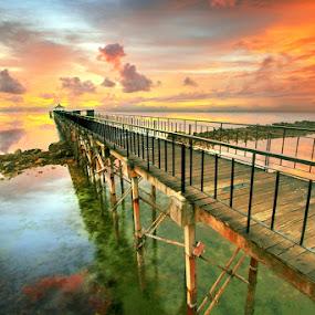 Sunset Pavillion by Alit  Apriyana - Landscapes Sunsets & Sunrises