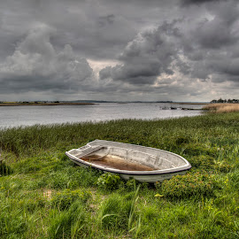 Amanda - the boat by Kim  Schou - Transportation Boats ( clouds, enø, hdr, boat, amanda )