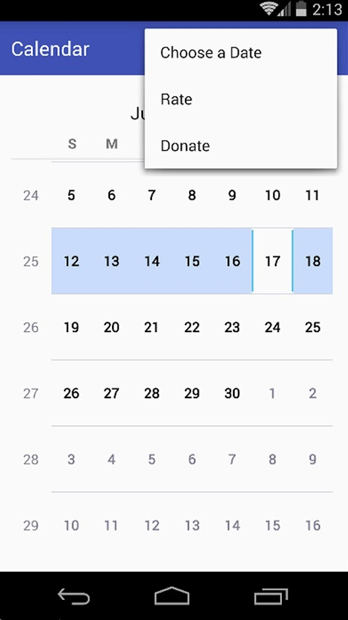 Simple Calendar Pro Screenshot 1