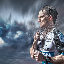 Determination by Shaun Janke - Sports & Fitness Running ( triathlon, hd, ironman, running, composite )