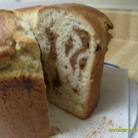 Sweet Bread Enhanced With Golden Rasins and Walnut Cream