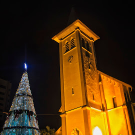 Christmas at cathedral Church Makassar by Hartono Wijaya  - Public Holidays Christmas ( christian, church, makassar, christmas, architecture, city, history, religion, cultural heritage, catholic, indonesia, place of worship, cathedral, night )