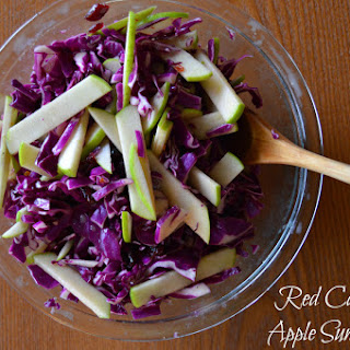 Red Cabbage & Apple Summer Slaw