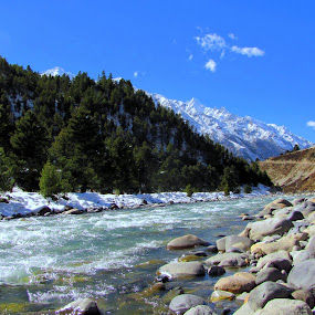 BASPA RUVER AT CHITKUL by Srabani Mitra - Travel Locations Landmarks ( himachal pradesh, india, pwcpaths )