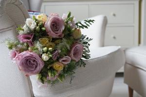 Pink rose country bridal bouquet - The Florist Tunbridge Wells