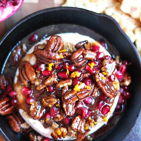 Pomegranate Pecan Baked Brie