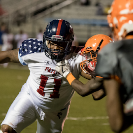 Intensity by Jackie Nix - Sports & Fitness American and Canadian football ( prattville, sports, athlete, stadium, american, competition, football, man,  )