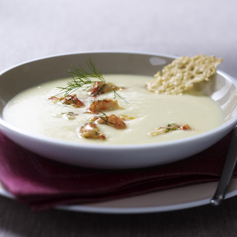 Cream of Celery Soup with Crab
