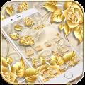 Golden Rose Theme Gold Roses