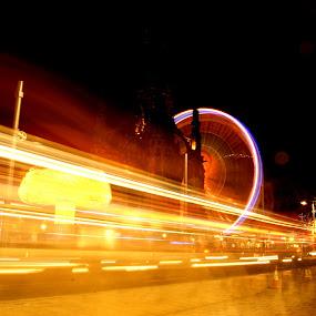 light up  by Danny Charge - City,  Street & Park  Street Scenes ( lights, edinbutgh, big wheel, street, trails )
