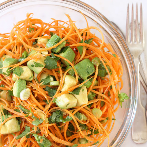 Carrot and Avocado Salad with Jalapeño Lime Vinaigrette