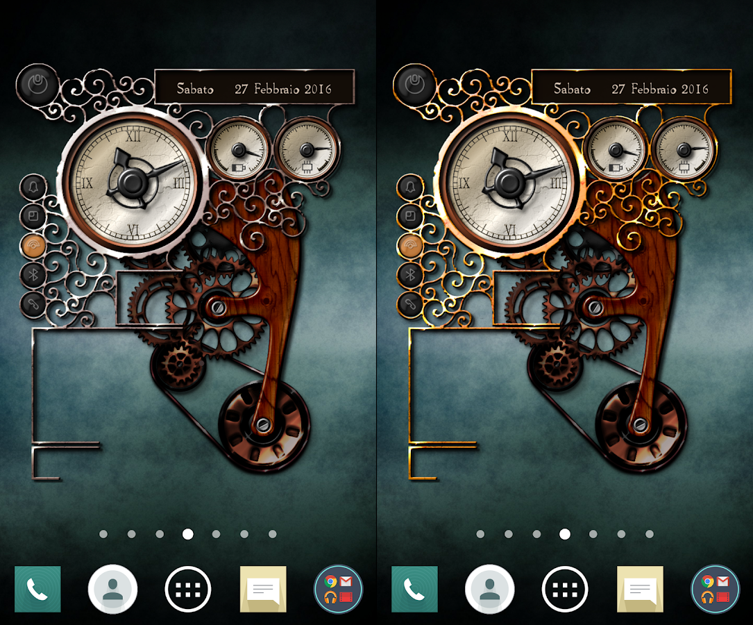 XtraOClock Steampunk Widget Screenshot 2