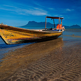Yellow Boat by PETER  LEE  - Landscapes Travel