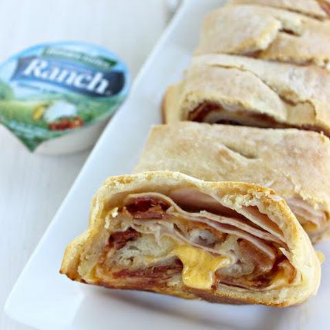 Turkey Bacon Cheddar Ranch Stromboli