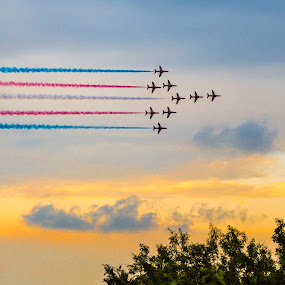 Red Arrows Dubai 2013 by Jaideep Abraham - News & Events World Events ( acrobats, red arrows, dubai, uae, burj al arab )