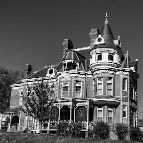 by Jackie Eatinger - Black & White Buildings & Architecture ( atchison, kansas,  )