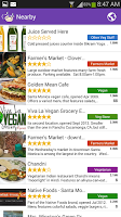 Screenshot of HappyCow Find Vegan Food FREE