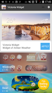 Victoria weather widget/clock - screenshot