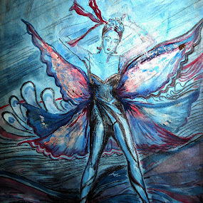 dancer lady by Vesna S. Disić - Drawing All Drawing ( pencil, art, mixed media, water colors, drawing )