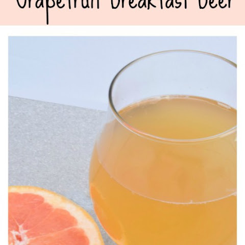 Breakfast Beer- A Grapefruit and Wheat Beer Cocktail