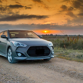 Fast Car's and Dirt Roads! by Tomas Rupp - Transportation Automobiles ( car, veloster, hyundai )