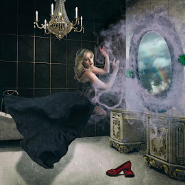 Oz by Kelley Hurwitz Ahr - Digital Art People ( bathroom rcomposite )