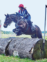 Lucy Bubb riding Catch Me If You Can in the 90cm  Open