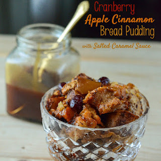 Cranberry Apple Cinnamon Bread Pudding