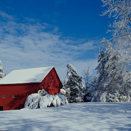 Winter Scene by Rob Dupcak - Buildings & Architecture Other Exteriors